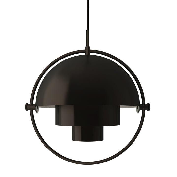 Multi-Lite Pendelleuchte Ø 36 cm von Gubi in Messing / schwarz