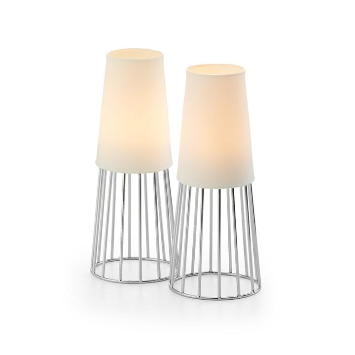 Lighthouse Teelichthalter von Philippi in weiß / silber (2er Set)