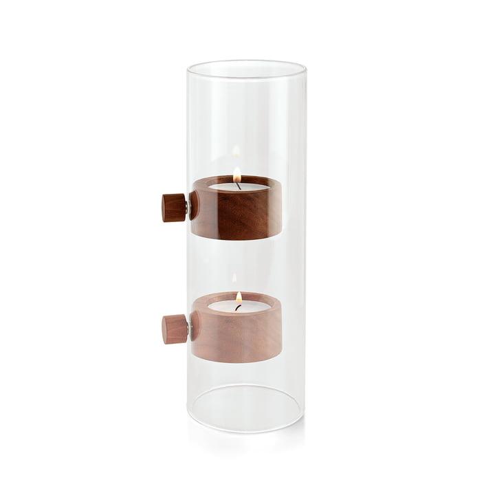 Lift Teelichthalter Ø 7 cm in Walnuss