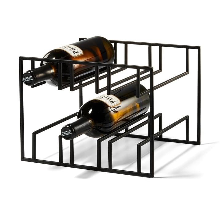 Cubo Weinregal für 6 Flaschen von Philippi in schwarz