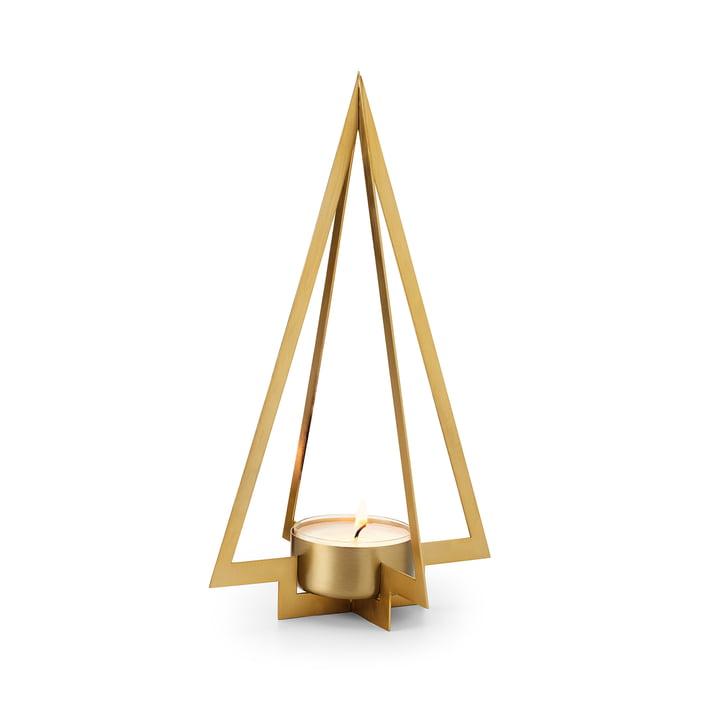 Der Navidad Tannenbaum Teelichthalter S von Philippi, mattgold