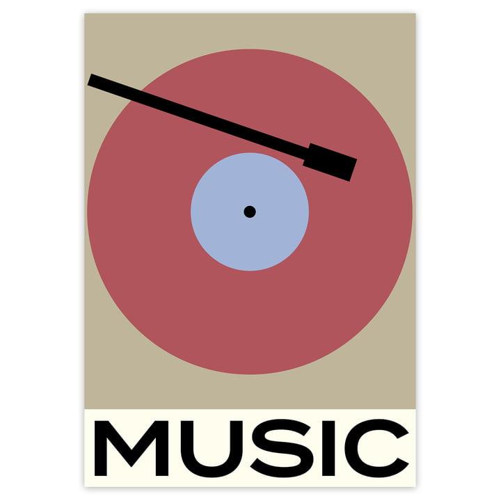 Das Music Poster von artvoll ohne Rahmen
