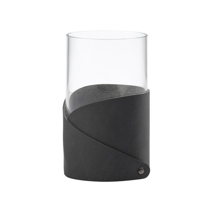 Fold Vase M Ø 11 cm von LindDNA in Nupo anthrazit / Glas