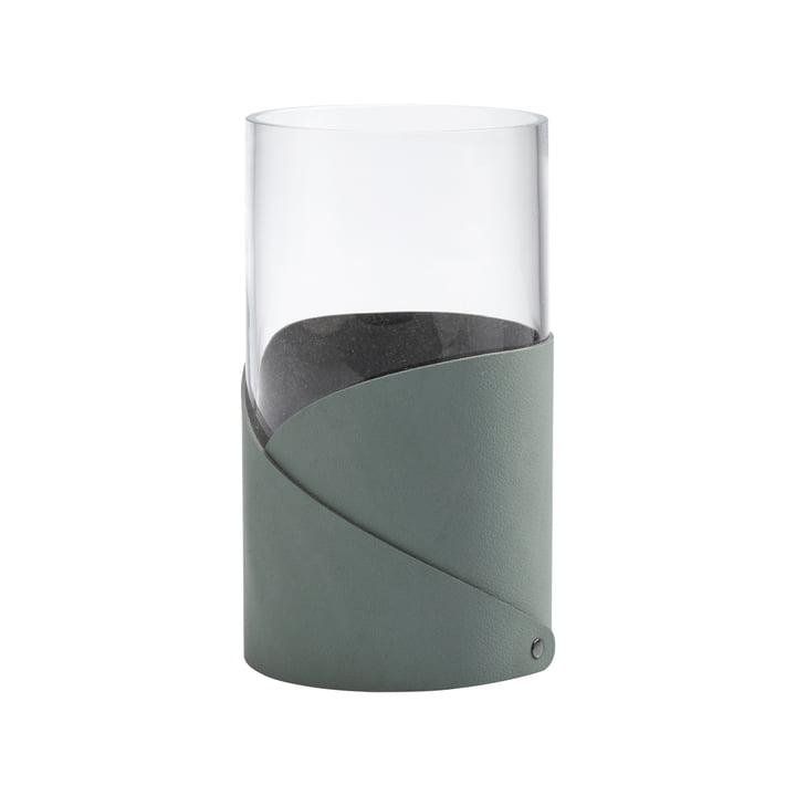 Fold Vase M Ø 11 cm von LindDNA in Nupo pastel grün / Glas
