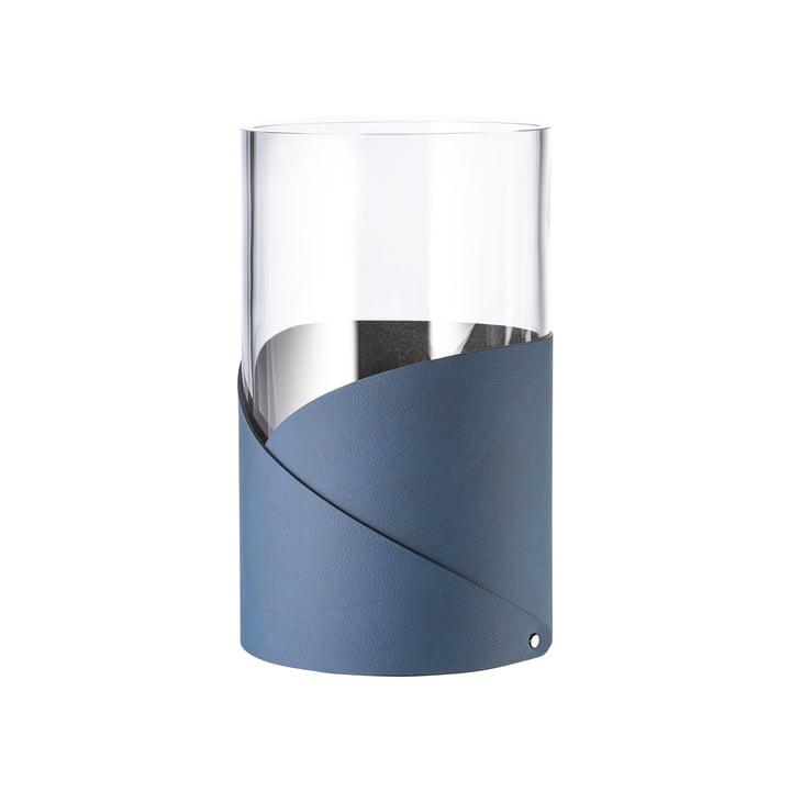 Fold Vase M Ø 11 cm von LindDNA in Nupo midnight blue / Glas
