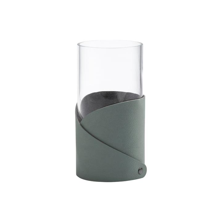 Fold Vase S Ø 7.5 cm von LindDNA in Nupo pastel grün / Glas