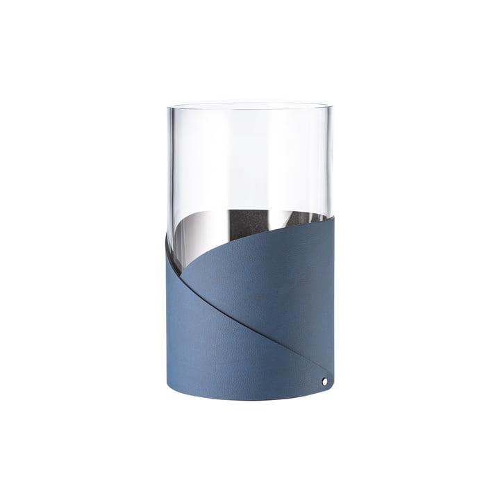 Fold Vase S Ø 7.5 cm von LindDNA in Nupo midnight blue / Glas