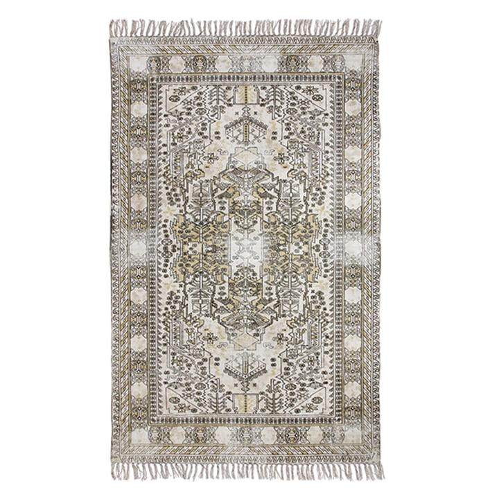 Überfärbter Baumwoll-Teppich von HKliving, 120 x 180 cm, sand
