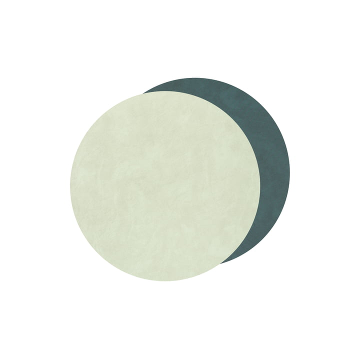 Glasuntersetzer Circle Double von LindDNA in Nupo dunkelgrün / olivgrün