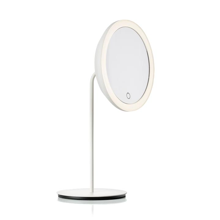 Kosmetikspiegel mit 5-fach Vergrößerung und LED-Beleuchtung Ø 18 cm von Zone Denmark in weiß