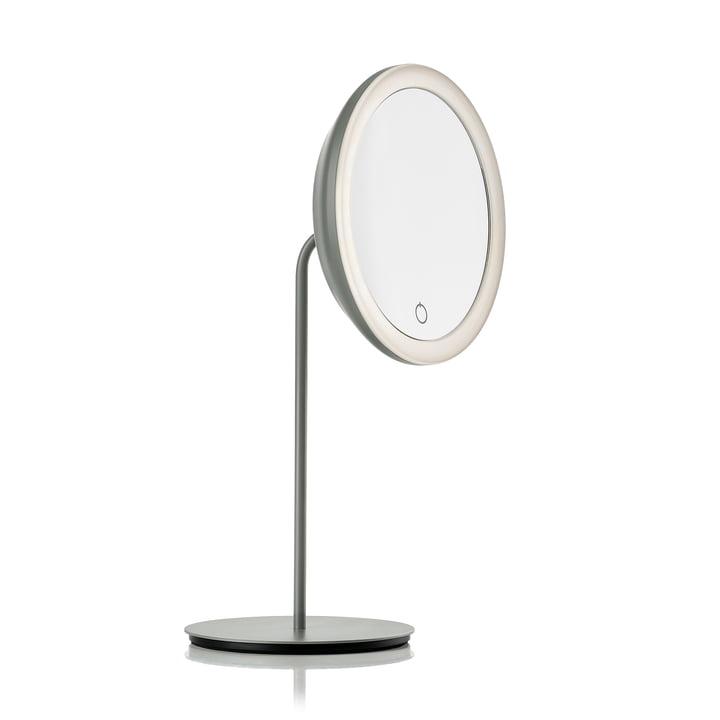 Kosmetikspiegel mit 5-fach Vergrößerung und LED-Beleuchtung Ø 18 cm von Zone Denmark in grau