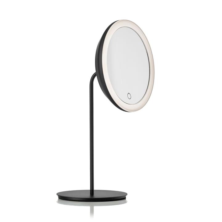 Kosmetikspiegel mit 5-fach Vergrößerung und LED-Beleuchtung Ø 18 cm von Zone Denmark in schwarz