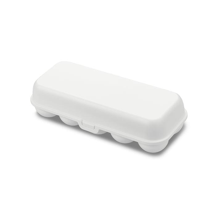 Eggs to go Mehrweg Eierbehälter von Koziol in cotton white