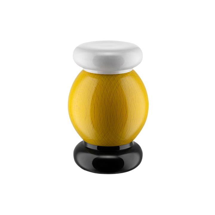 Twergi Salz-/Pfeffer- und Gewürzmühle ES18 von Alessi in gelb / schwarz / weiß