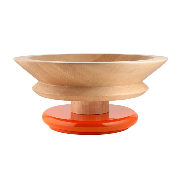Twergi Schale Ø 30 cm von Alessi aus Lindenholz natur / orange