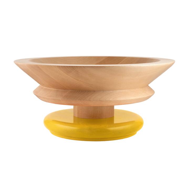 Twergi Schale Ø 30 cm von Alessi aus Lindenholz natur / gelb