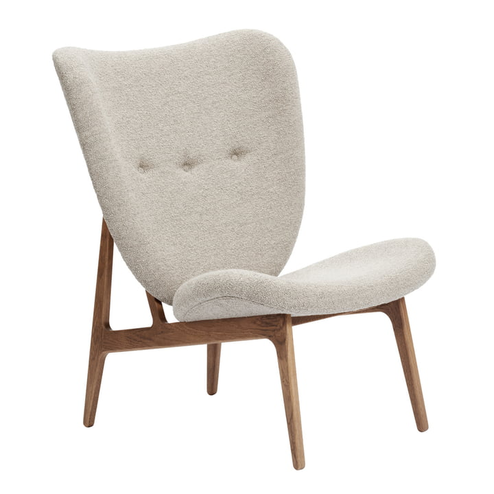 Der Elephant Lounge Sessel von Norr11, Eiche geräuchert / Barnum - Col