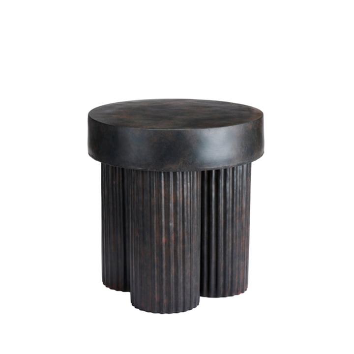 Der Gear Beistelltisch von Norr11, H 48 x Ø 45 cm, schwarz