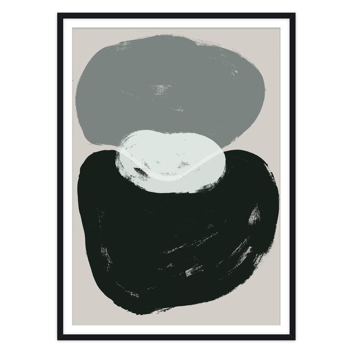 Das Brosse Poster von artvoll mit Rahmen, schwarz