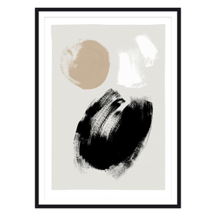 Das Brush Poster von artvoll mit Rahmen, schwarz