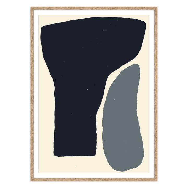 Das Etang Poster von artvoll mit Rahmen, Eiche natur