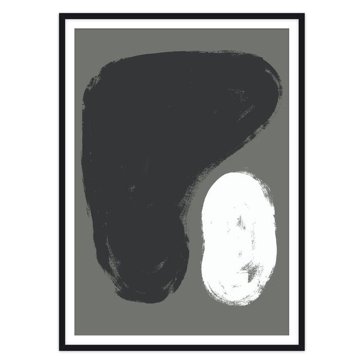Das Pierre Poster von artvoll mit Rahmen, schwarz
