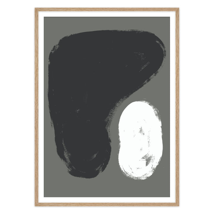 Das Pierre Poster von artvoll mit Rahmen, Eiche natur