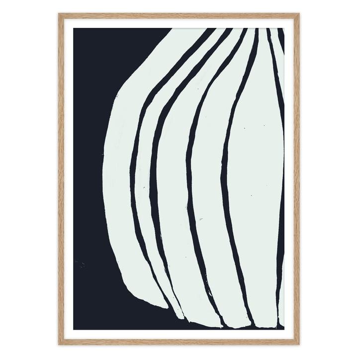Das Vase Poster von artvoll mit Rahmen, Eiche natur