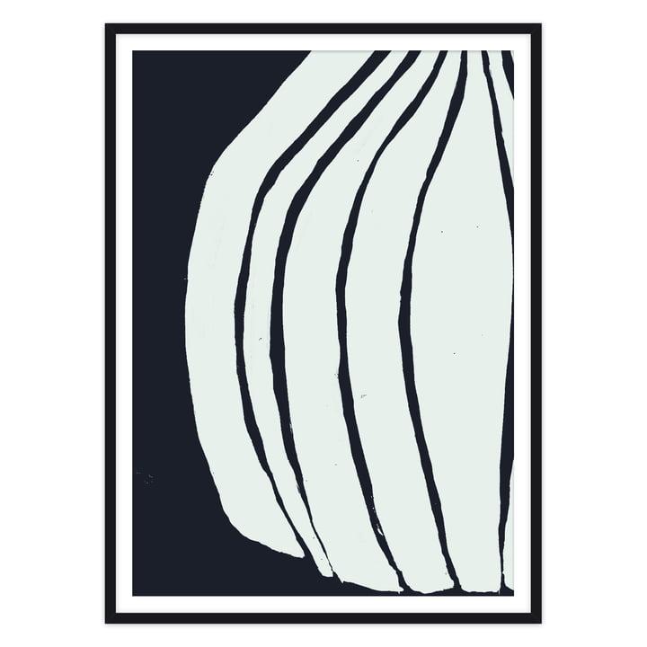 Das Vase Poster von artvoll mit Rahmen, schwarz