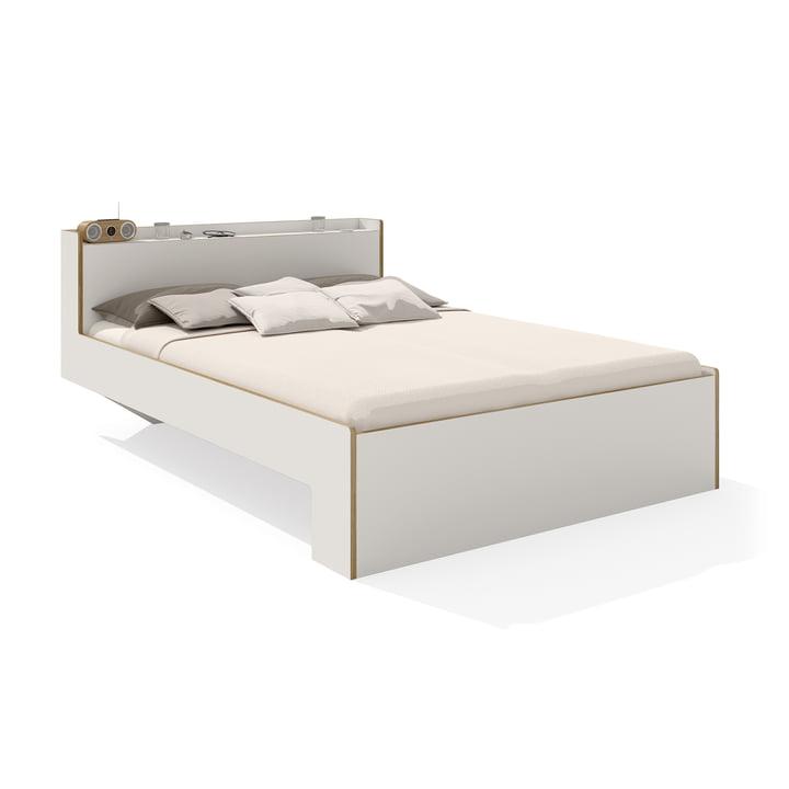 Nook Doppelbett von Müller Möbelwerkstätten in Weiß