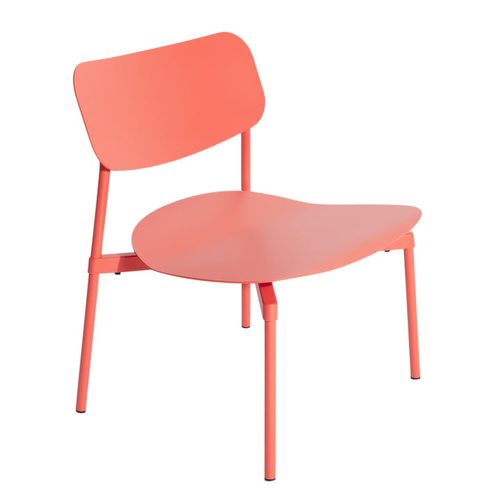 Fromme Lounge Stuhl Outdoor von Petite Friture in coral
