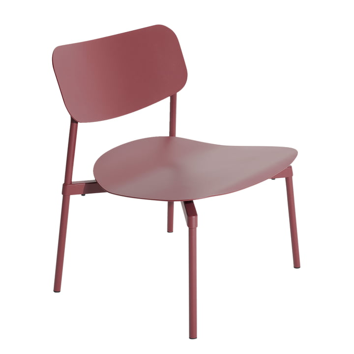 Fromme Lounge Stuhl Outdoor von Petite Friture in braun rot
