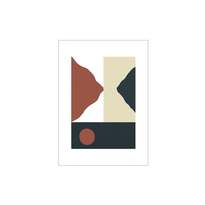 Das Big Sur Poster von Paper Collective, 30 x 40 cm