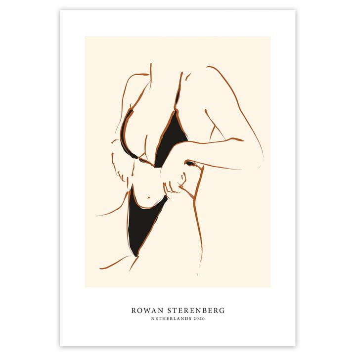 Das Self Love Serie - Woman In Bikini Poster von artvoll ohne Rahmen