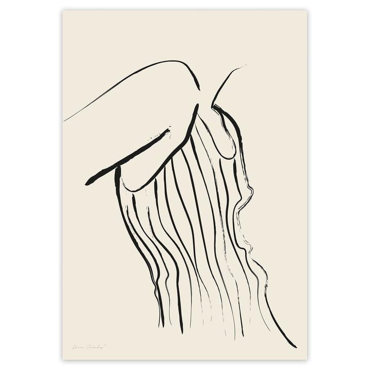 Das Woman In Stripes Poster aus der Self Love Serie von artvoll ohne Rahmen