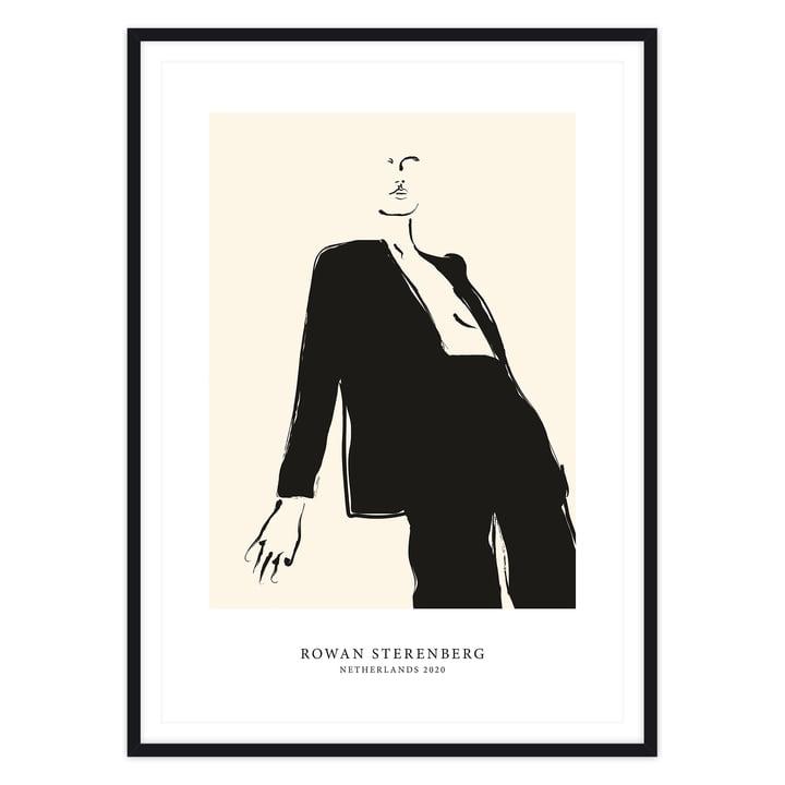 Das Self Love Serie - Woman In Black Suite Poster mit Rahmen, schwarz