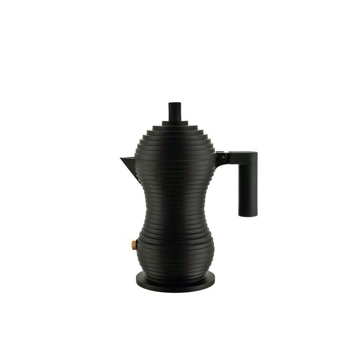Pulcina Espressokocher 7 cl von Alessi in schwarz