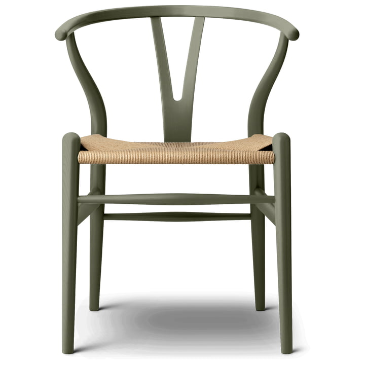 Der CH24 Wishbone Chair von Carl Hansen, seaweed / Naturgeflecht (limitierte Edition)
