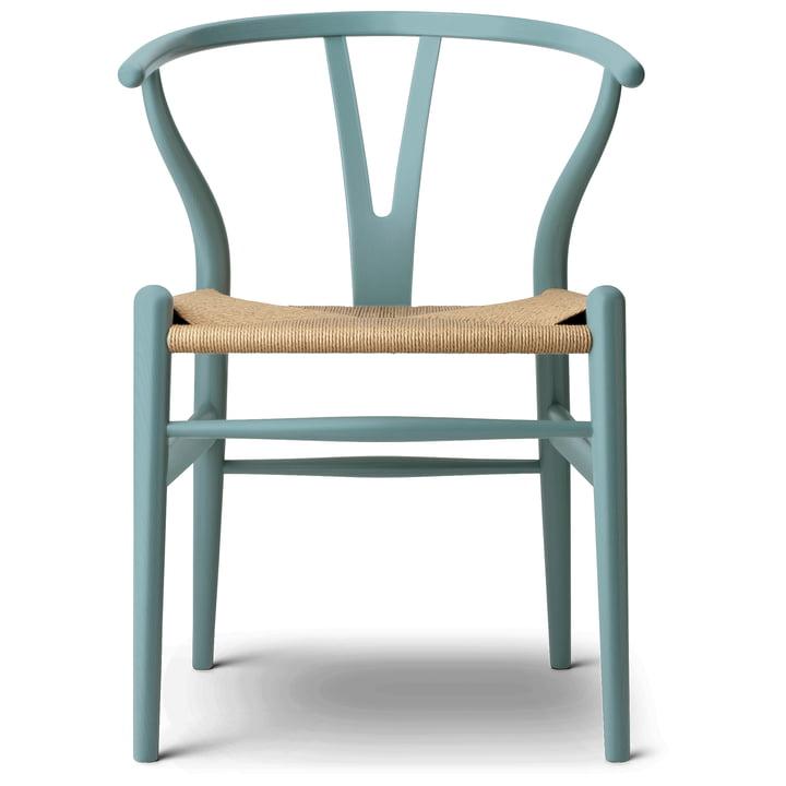 Der CH24 Wishbone Chair von Carl Hansen, pewter / Naturgeflecht (limitierte Edition)