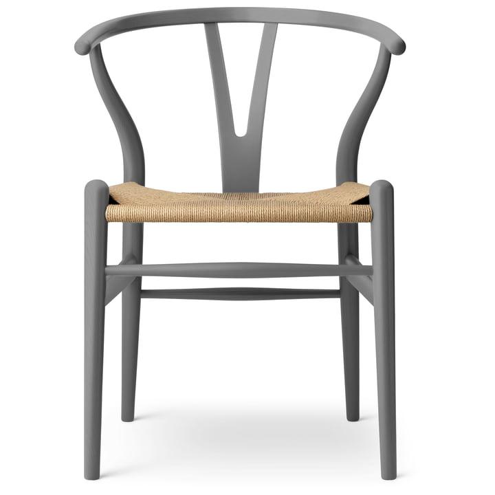 Der CH24 Wishbone Chair von Carl Hansen, slate / Naturgeflecht (limitierte Edition)