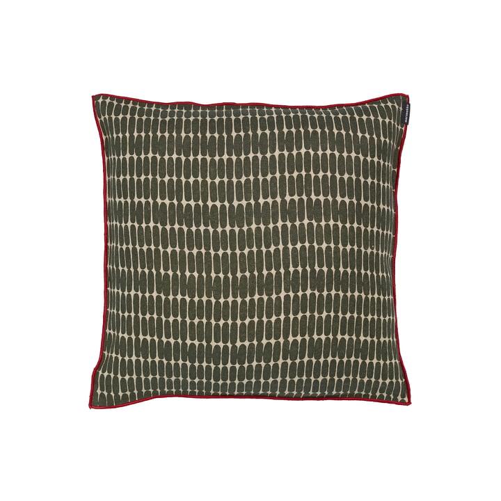 Der Alku Kissenbezug von Marimekko, 40 x 40 cm, leinen / dunkelgrün