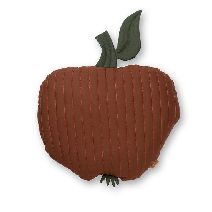 Apfel Kinderkissen 45 x 49 cm von ferm Living in zimtrot