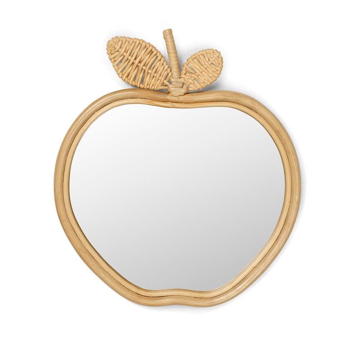 Apfel Kinderspiegel 42 x 37 cm von ferm Living in natur