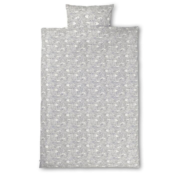 Stream Bettwäsche 140 x 200 cm von ferm Living in off-white