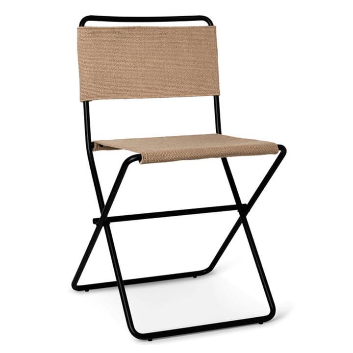 Desert Dining Chair von ferm Living in sand / schwarz