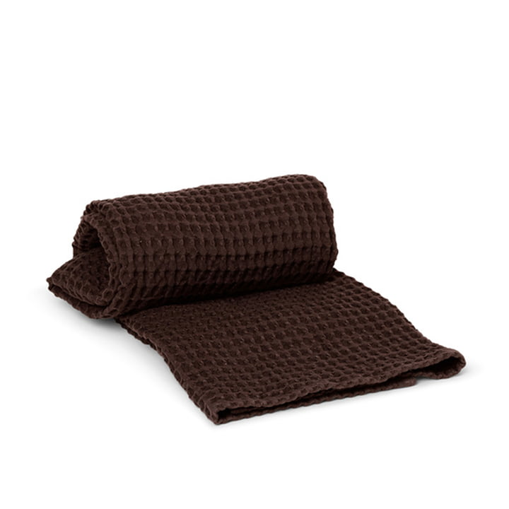 Organic Badetuch 70 x 140 cm von ferm Living in chocolate