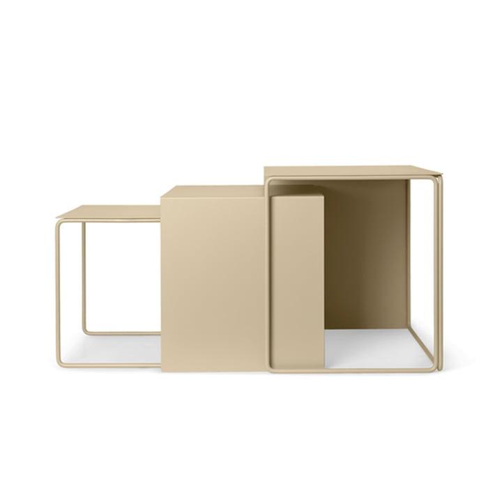 Cluster Tables (3er-Set) von ferm Living in cashmere
