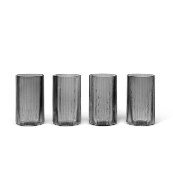 Ripple Verrines von ferm Living in smoked grey (4er-Set)