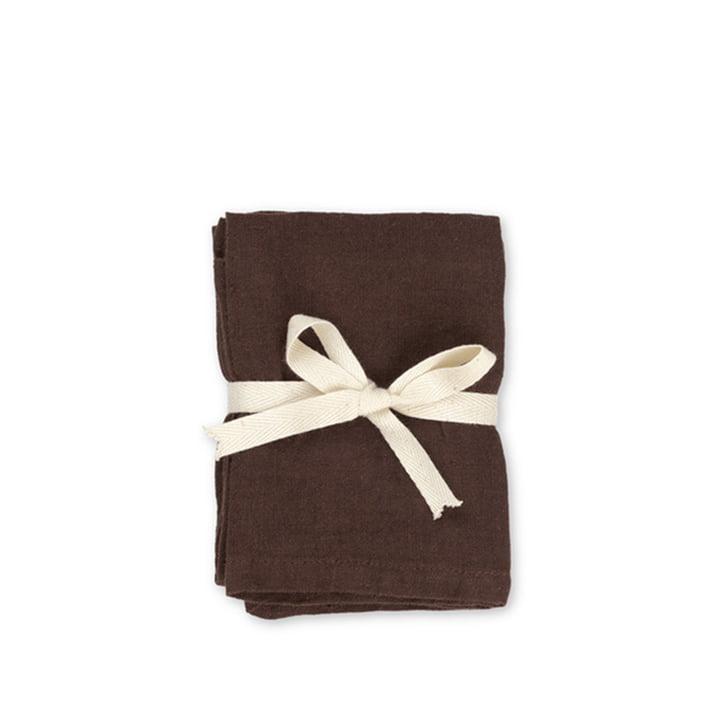 Leinen Servietten 45 x 45 cm von ferm Living in chocolate (2er-Set)