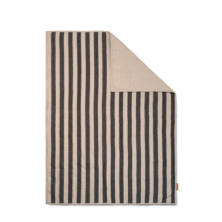 Grand Decke 120 x 170 cm von ferm Living in sand / schwarz